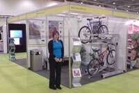 Falco Cycle Storage at the BSF Exhibition