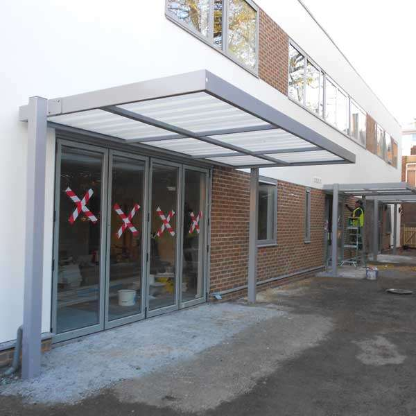Shelters, Canopies, Walkways and Bin Stores | Canopies and Walkways | FalcoSpan Canopy | image #2 |