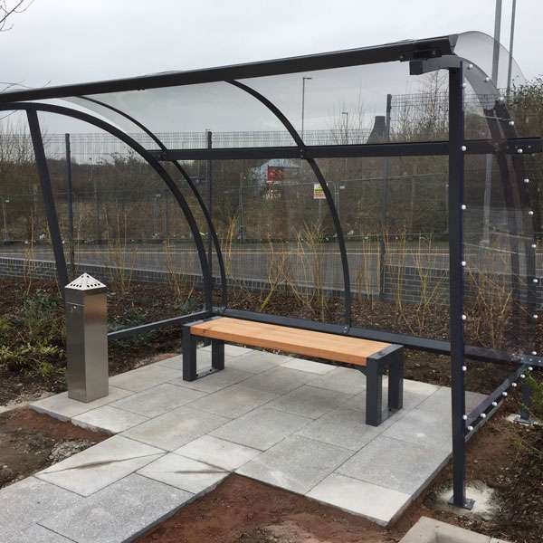 Shelters, Canopies, Walkways and Bin Stores | Waiting Shelters | FalcoLite Waiting Shelter | image #7 |