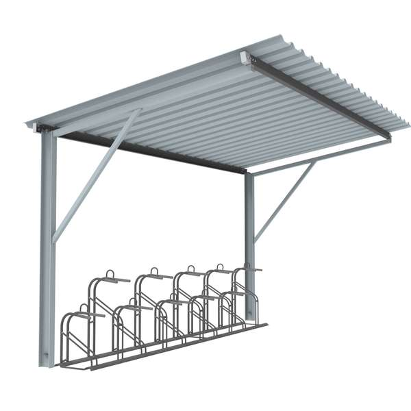 Shelters, Canopies, Walkways and Bin Stores | Cycle Shelters | FalcoTel-E Cycle Shelter | image #1 |