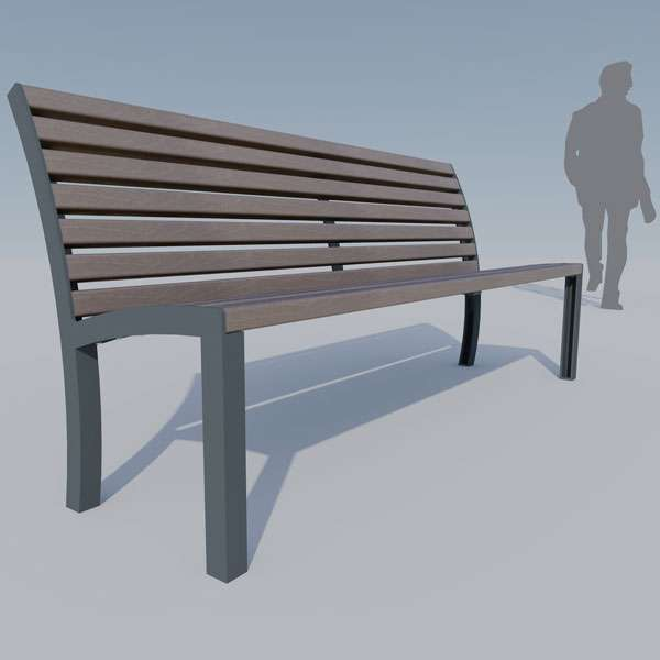 Street Furniture | Seating and Benches | FalcoStretto Seat | image #3 |