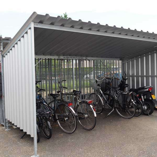 Shelters, Canopies, Walkways and Bin Stores | Cycle Shelters | FalcoTel-E Cycle Shelter | image #2 |