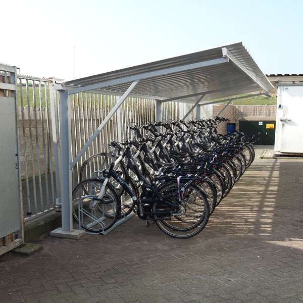 Shelters, Canopies, Walkways and Bin Stores | Cycle Shelters | FalcoTel-E Cycle Shelter | image #3 |
