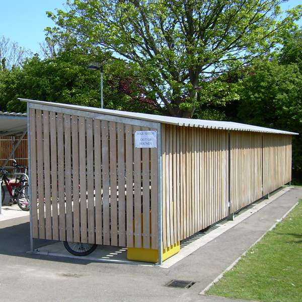 Shelters, Canopies, Walkways and Bin Stores | Cycle Shelters | FalcoTel-E Cycle Shelter | image #4 |