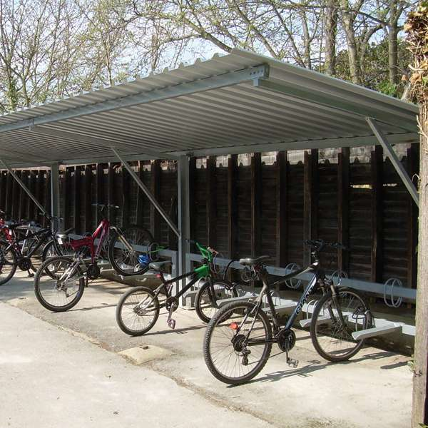 Shelters, Canopies, Walkways and Bin Stores | Cycle Shelters | FalcoTel-E Cycle Shelter | image #5 |