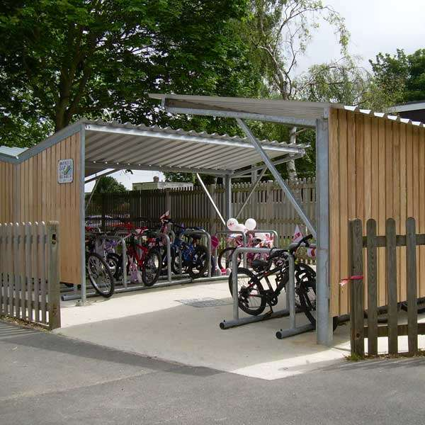 Shelters, Canopies, Walkways and Bin Stores | Cycle Shelters | FalcoTel-E Cycle Shelter | image #6 |