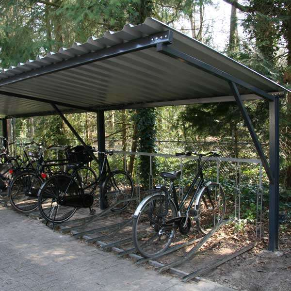 Shelters, Canopies, Walkways and Bin Stores | Cycle Shelters | FalcoTel-E Cycle Shelter | image #7 |