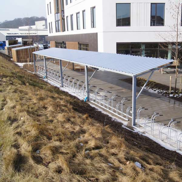Shelters, Canopies, Walkways and Bin Stores | Cycle Shelters | FalcoTel-E Cycle Shelter | image #11 |