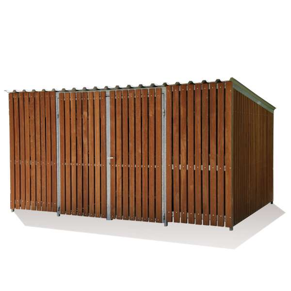 Shelters, Canopies, Walkways and Bin Stores | Bin Stores | FalcoTel-K Bin Store | image #1 |