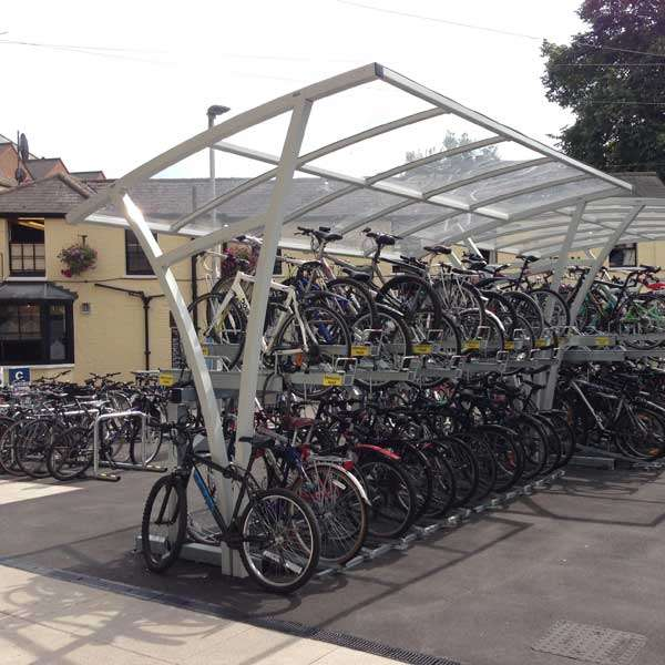 Shelters, Canopies, Walkways and Bin Stores | Cycle Shelters | FalcoRail Cycle Shelter | image #2 |