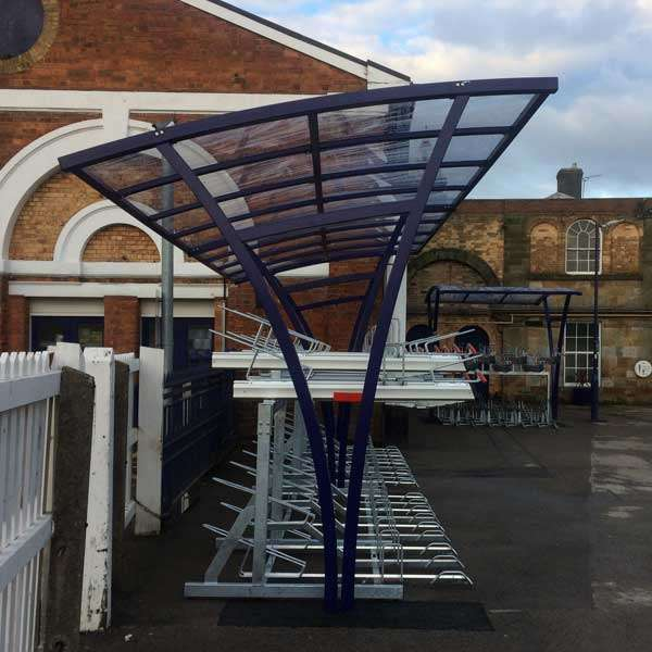 Shelters, Canopies, Walkways and Bin Stores | Cycle Shelters | FalcoRail Cycle Shelter | image #3 |