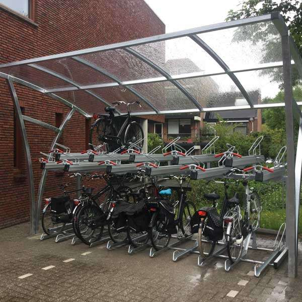 Shelters, Canopies, Walkways and Bin Stores | Cycle Shelters | FalcoRail Cycle Shelter | image #5 |