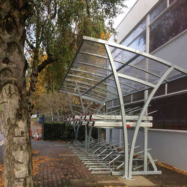 Shelters, Canopies, Walkways and Bin Stores | Cycle Shelters | FalcoRail Cycle Shelter | image #6 |