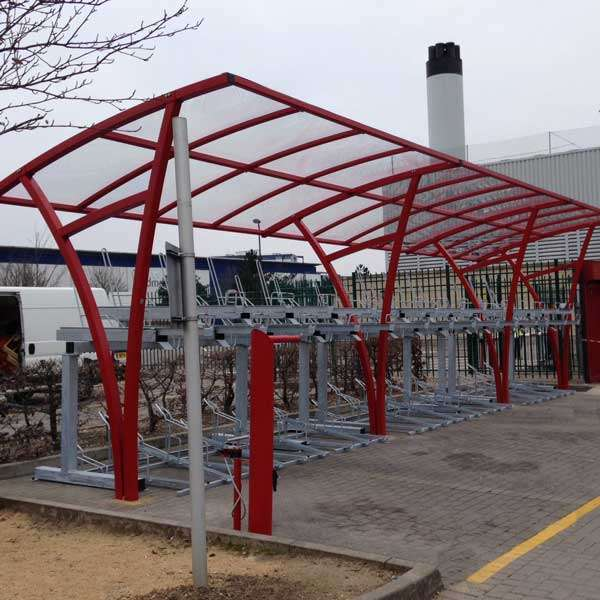 Shelters, Canopies, Walkways and Bin Stores | Cycle Shelters | FalcoRail Cycle Shelter | image #7 |