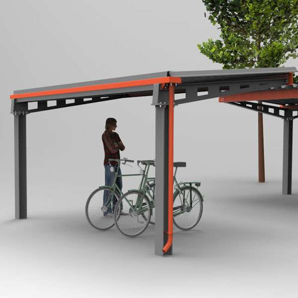 Shelters, Canopies, Walkways and Bin Stores | Cycle Shelters | FalcoHoth Cycle Canopy | image #2 |