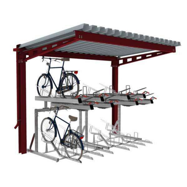 Shelters, Canopies, Walkways and Bin Stores | Cycle Shelters | FalcoHoth Cycle Canopy | image #5 |
