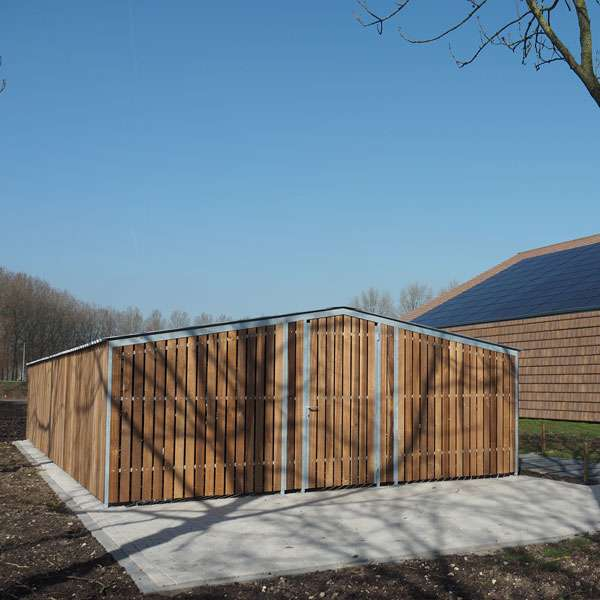 Shelters, Canopies, Walkways and Bin Stores | Cycle Shelters | FalcoTel-C Cycle Compound | image #2 |
