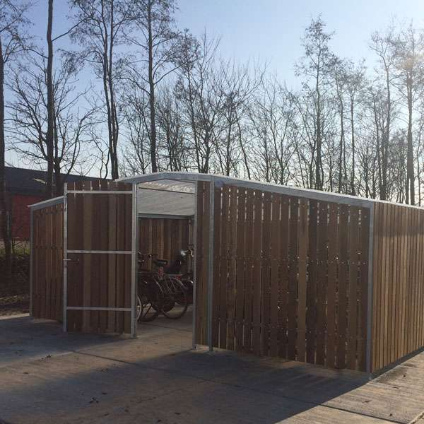Shelters, Canopies, Walkways and Bin Stores | Cycle Shelters | FalcoTel-C Cycle Compound | image #3 |