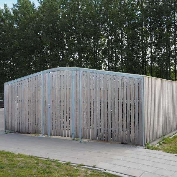 Shelters, Canopies, Walkways and Bin Stores | Cycle Shelters | FalcoTel-C Cycle Compound | image #5 |
