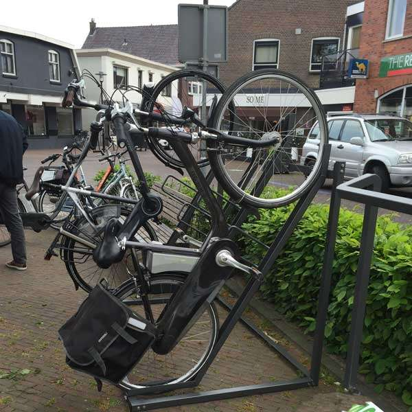 Cycle Parking | Compact Cycle Parking | FalcoVert-Pro Semi Vertical Cycle Rack | image #2 |