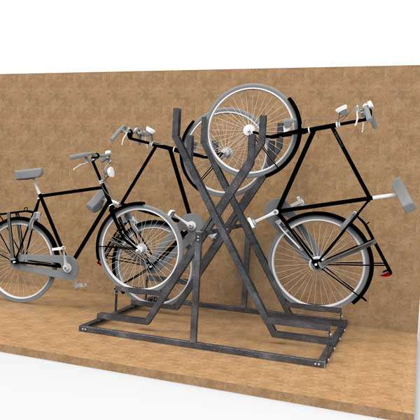 Cycle Parking | Compact Cycle Parking | FalcoVert-Pro Semi Vertical Cycle Rack | image #4 |