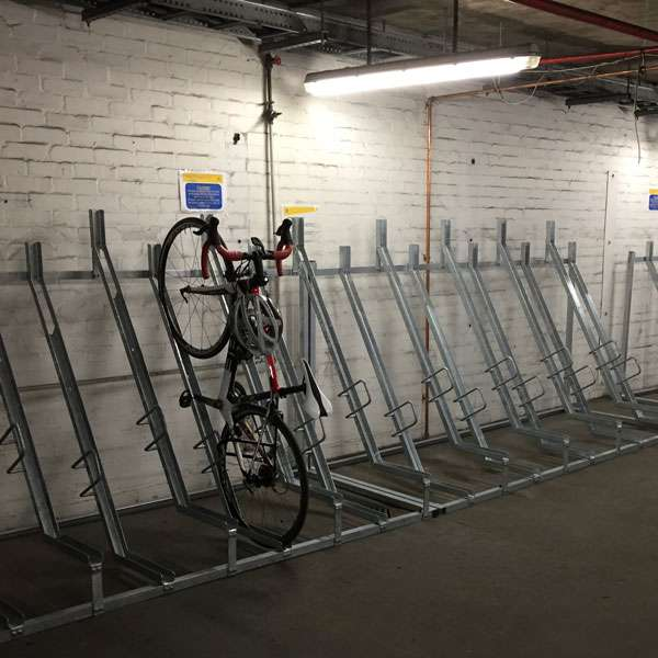 Cycle Parking | Compact Cycle Parking | FalcoVert-Pro Semi Vertical Cycle Rack | image #6 |