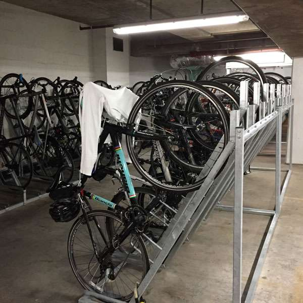 Cycle Parking | Compact Cycle Parking | FalcoVert-Pro Semi Vertical Cycle Rack | image #7 |