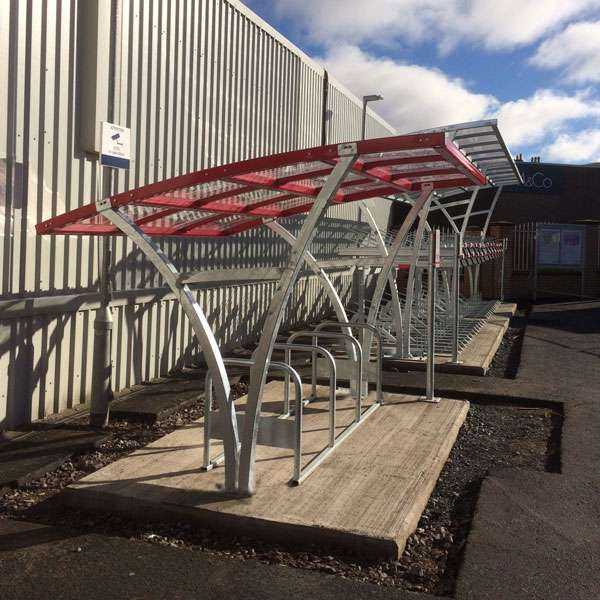 Shelters, Canopies, Walkways and Bin Stores | Cycle Shelters | FalcoRail-Low Cycle Shelter | image #2 |