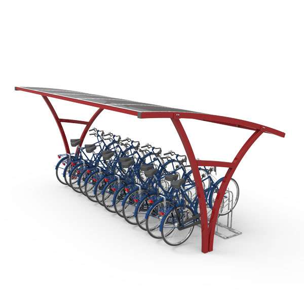 Shelters, Canopies, Walkways and Bin Stores | Cycle Shelters | FalcoRail-Low Cycle Shelter | image #3 |