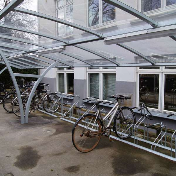 Shelters, Canopies, Walkways and Bin Stores | Cycle Shelters | FalcoRail-Low Cycle Shelter | image #4 |