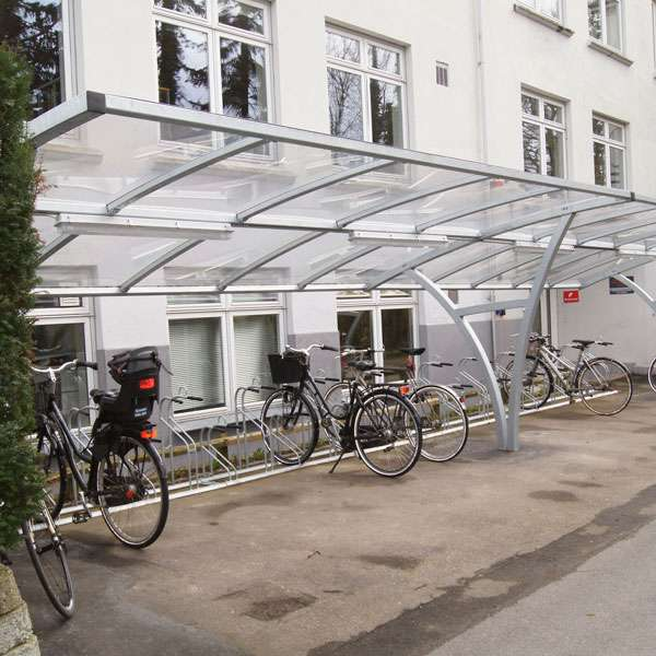 Shelters, Canopies, Walkways and Bin Stores | Cycle Shelters | FalcoRail-Low Cycle Shelter | image #5 |