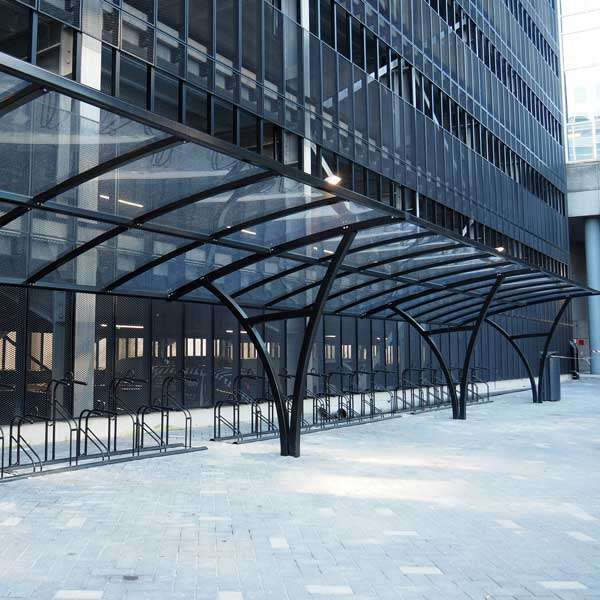 Shelters, Canopies, Walkways and Bin Stores | Cycle Shelters | FalcoRail-Low Cycle Shelter | image #6 |