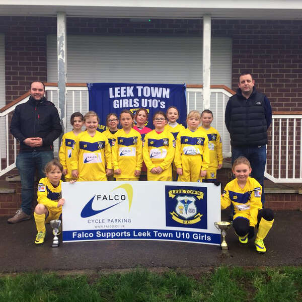 Falco is Proud to Support Leek Town U10 Girls Football Team