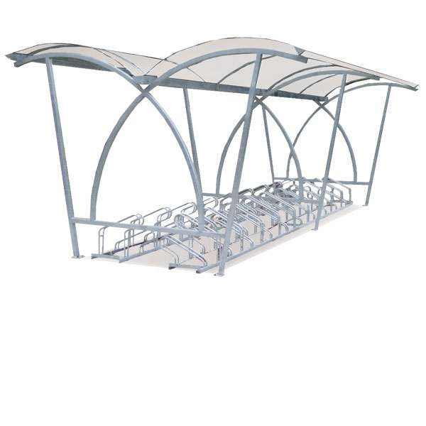 Shelters, Canopies, Walkways and Bin Stores | Cycle Shelters | FalcoLite Double-Sided Cycle Shelter | image #1 |