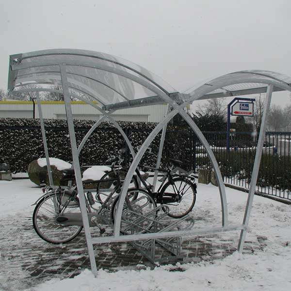 Shelters, Canopies, Walkways and Bin Stores | Cycle Shelters | FalcoLite Double-Sided Cycle Shelter | image #2 |
