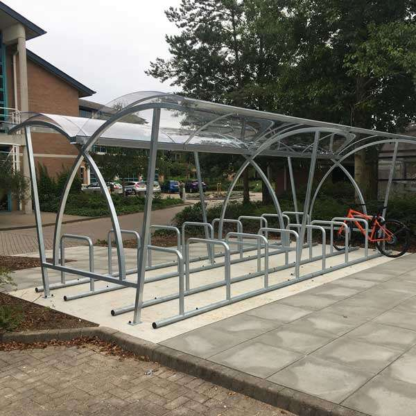 Shelters, Canopies, Walkways and Bin Stores | Cycle Shelters | FalcoLite Double-Sided Cycle Shelter | image #3 |