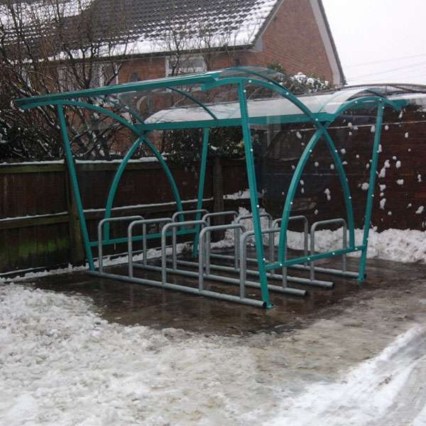 Shelters, Canopies, Walkways and Bin Stores | Cycle Shelters | FalcoLite Double-Sided Cycle Shelter | image #4 |