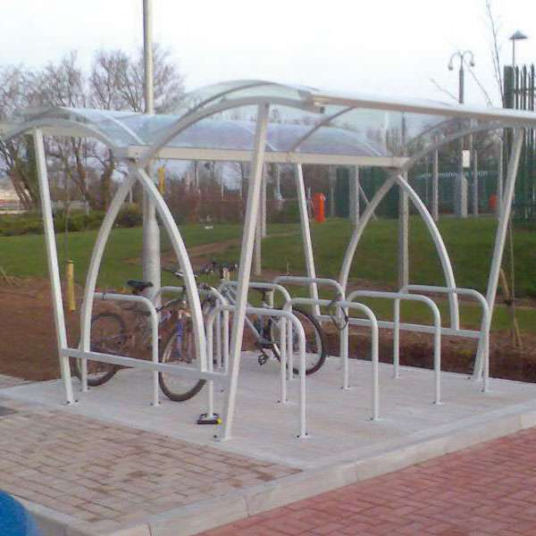 Shelters, Canopies, Walkways and Bin Stores | Cycle Shelters | FalcoLite Double-Sided Cycle Shelter | image #5 |