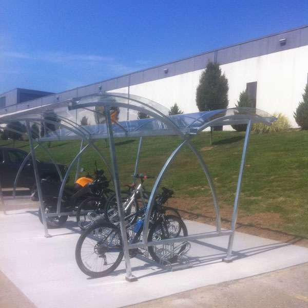 Shelters, Canopies, Walkways and Bin Stores | Cycle Shelters | FalcoLite Double-Sided Cycle Shelter | image #6 |