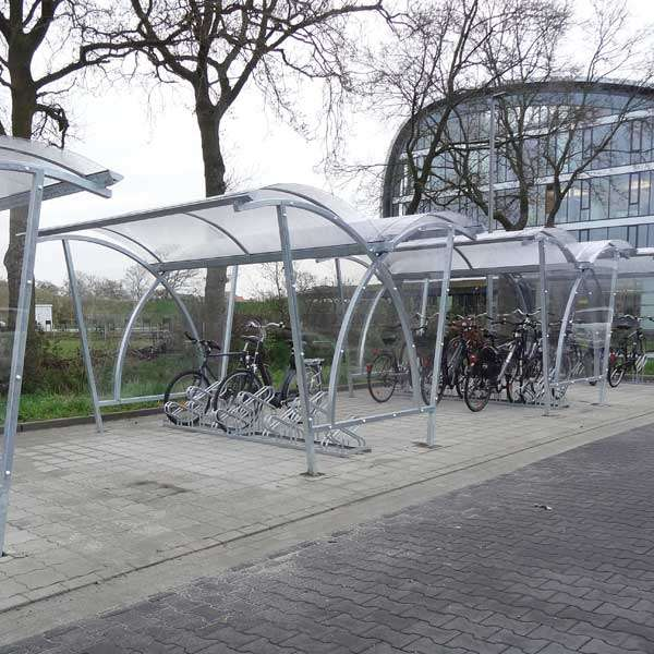 Shelters, Canopies, Walkways and Bin Stores | Cycle Shelters | FalcoLite Double-Sided Cycle Shelter | image #7 |
