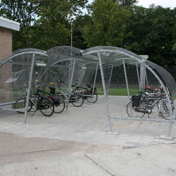 Shelters, Canopies, Walkways and Bin Stores | Cycle Shelters | FalcoLite Cycle Compound | image #2 |