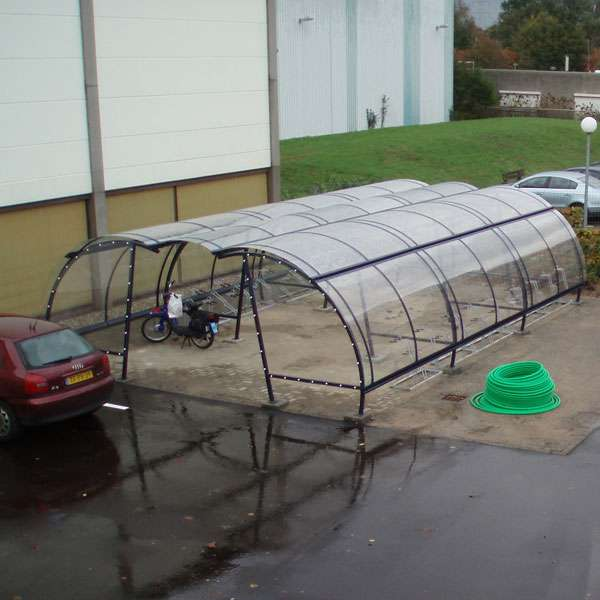 Shelters, Canopies, Walkways and Bin Stores | Cycle Shelters | FalcoLite Cycle Compound | image #3 |