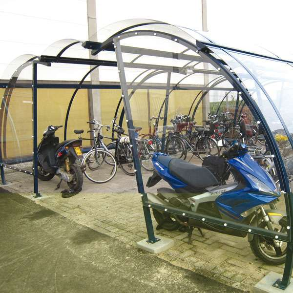 Shelters, Canopies, Walkways and Bin Stores | Cycle Shelters | FalcoLite Cycle Compound | image #4 |