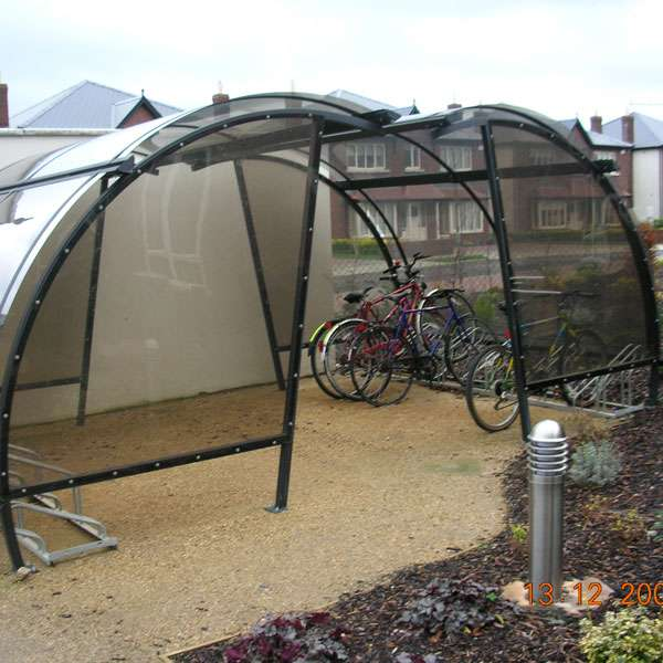 Shelters, Canopies, Walkways and Bin Stores | Cycle Shelters | FalcoLite Cycle Compound | image #5 |