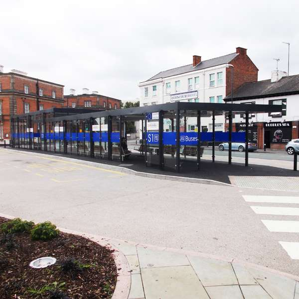 Shelters, Canopies, Walkways and Bin Stores | Shelters for Two-Tier Cycle Racks | Falco Cycle Hub | image #9 |  Cycle Hub Derby Midland Station