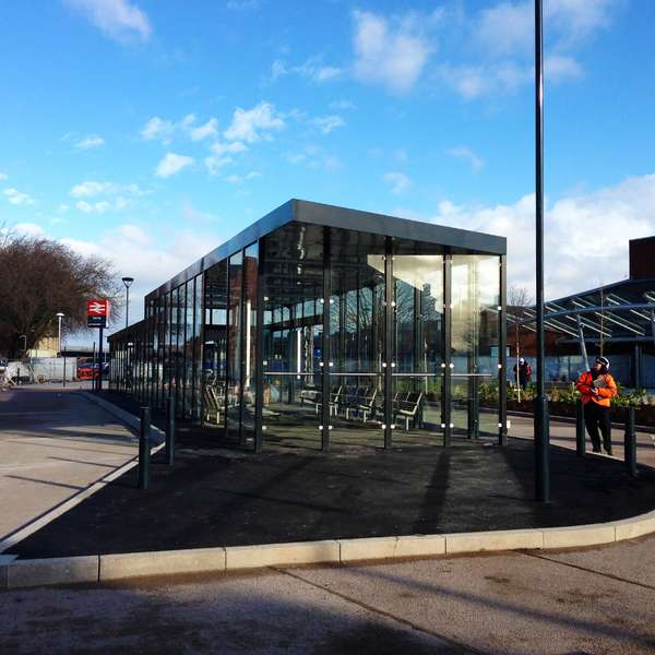 Shelters, Canopies, Walkways and Bin Stores | Shelters for Two-Tier Cycle Racks | Falco Cycle Hub | image #4 |  Waiting Shelter