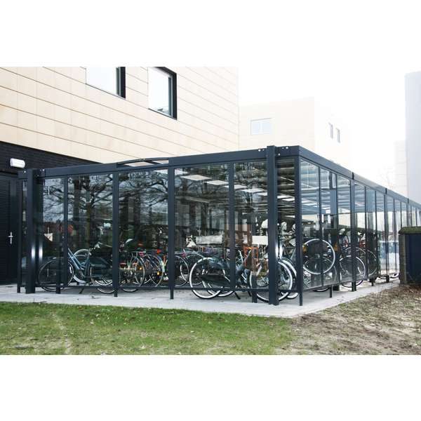 Shelters, Canopies, Walkways and Bin Stores | Shelters for Two-Tier Cycle Racks | Falco Cycle Hub | image #7 |  Cycle Hub Hengelo
