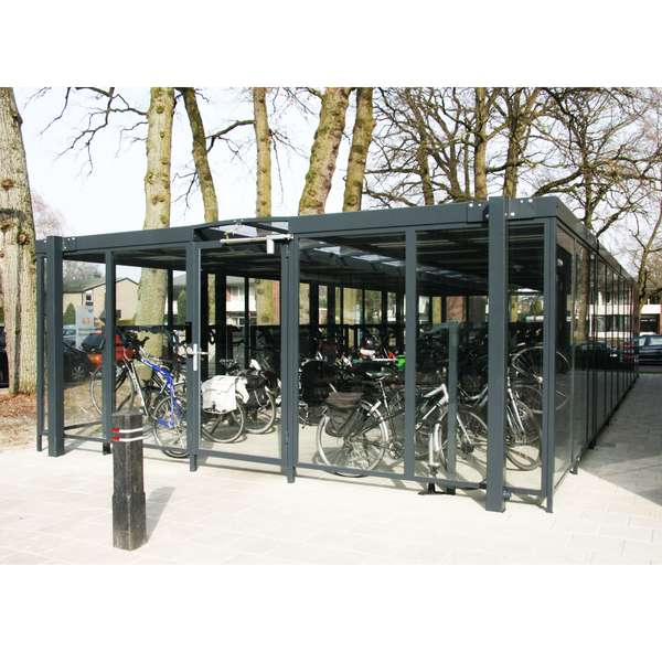 Shelters, Canopies, Walkways and Bin Stores | Shelters for Two-Tier Cycle Racks | Falco Cycle Hub | image #8 |  Cycle Hub Design