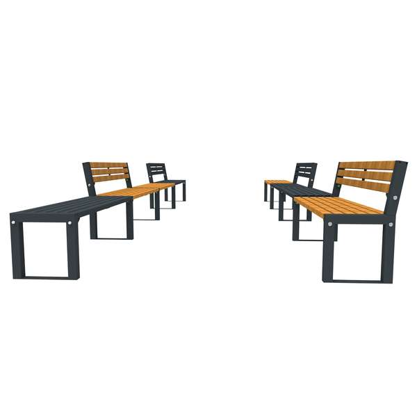Street Furniture | Seating and Benches | FalcoAcero Seat (Hardwood) | image #3 |
