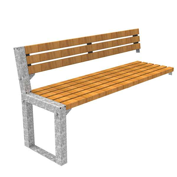 Street Furniture | Seating and Benches | FalcoAcero Seat (Hardwood) | image #4 |